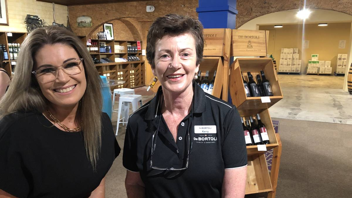 POSITIONS FILLED: Monique Rossi (left) HR manager at De Bortoli Wines says they have received half as many applications this year but are feeling positive they will have what they need, with Kerry Spry. PHOTO: Kat Vella