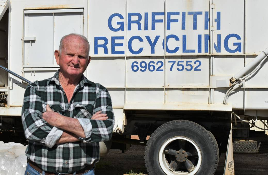 THROWN AWAY: Griffith Recycling owner Russell Rowley has been stripped of a local contract in favour of outsiders. PHOTO: Shaun Paterson