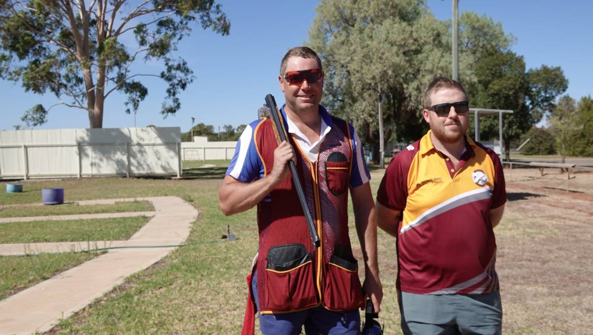 LOCKED AND LOADED: Local shooter Mark Rosenboom and Griffith Gun Club secretary Leigh Stokes are both hoping for a change in fortunes for the club, after a tough year. PHOTO: Monty Jacka