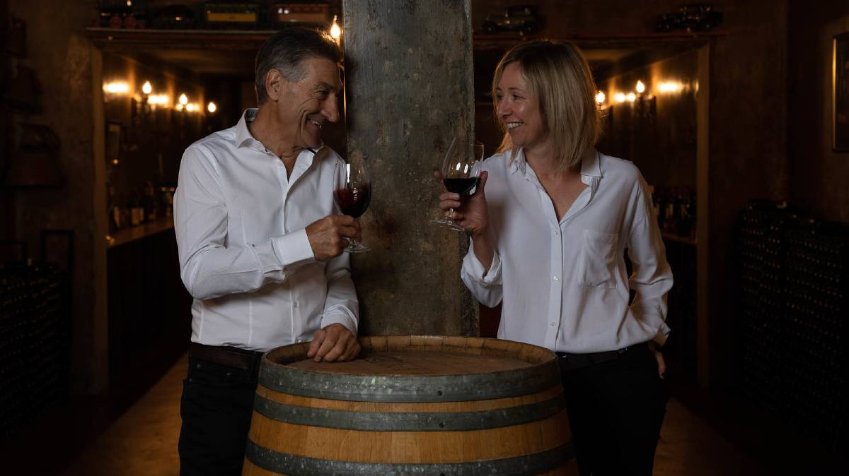 RAISE YOUR GLASS: Calabria Family Wines owner Bill Calabria and chief winemaker Emma Norbiato plan for a virtual wine-tasting event which aims to raise funds for the Sydney Children's Hospitals Foundation. PHOTO: Supplied